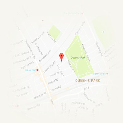 Location - Queens Park, derwice in home/office/hotel